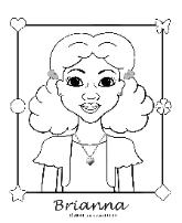 Free Coloring Page - Charmz Girl: Brianna