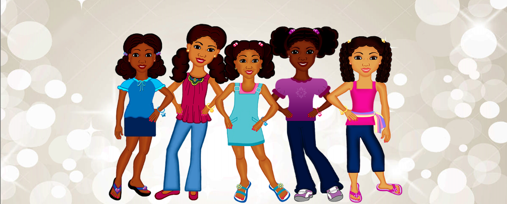 Beautiful Black Girl Characters-Charmz Girls